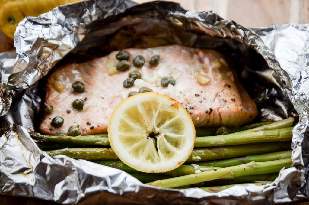 Camping Salmon Foil Pack