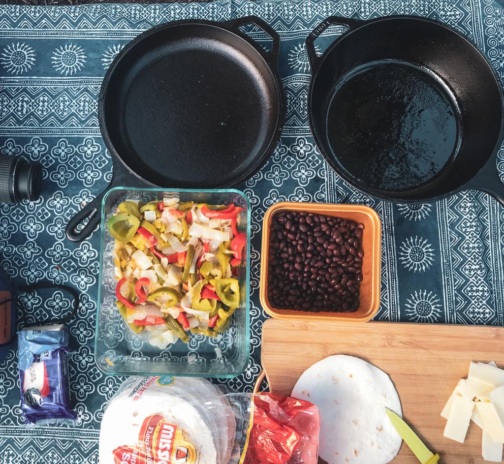 Meal prep for enchiladas